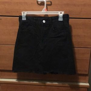 Mini Black Jean Skirt
